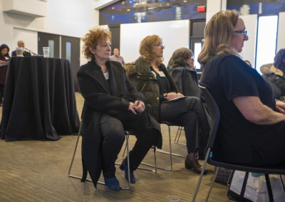 Photographer Nan Goldin was in attendance at the conference. (Jesse Costa/WBUR)