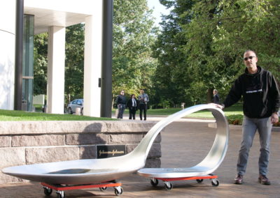 The J&J Spoon, moved to public ground